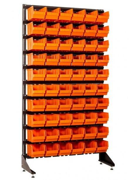 Стеллаж для метизов на склад 60 лотков