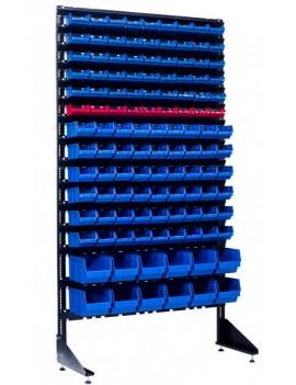 Стенд для магазина с пластиковыми ящиками 120 шт