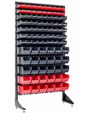Стеллаж с ящиками для метизов на 93 лотка