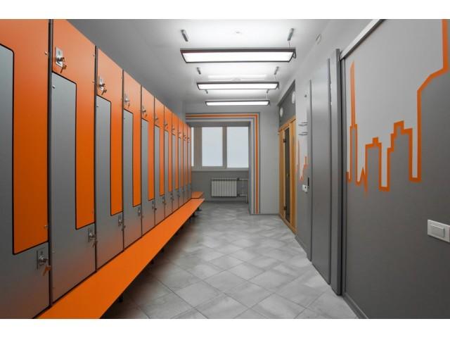 Шкаф раздевалка для фитнес клуба