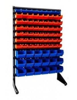 Метизный стеллаж для магазина 81 ящик