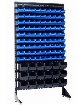 Стеллаж складской на 108 контейнеров под метизы