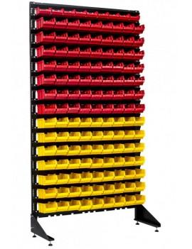 Стенд с лотками для метизов для гаража, склада, СТО (135 ящиков)