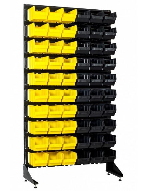 Стеллаж для склада на 60 ящиков для крепежа и деталей