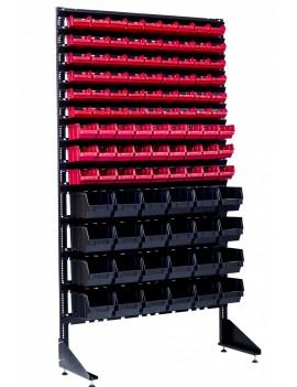 Напольные стеллажи на 105 ячеек для метизов и под крепеж