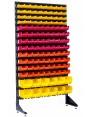 Стеллаж на 120 пластиковых боксов для строительного крепежа