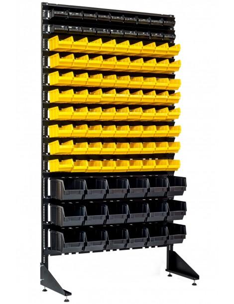 Стеллаж метизный на 108 пластиковых лотков для склада