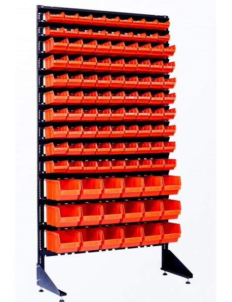 Торговый стеллаж на 108 боксов для мелочей