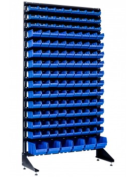 Стеллажи торговые на 132 ящика пластиковых для магазина крепежа
