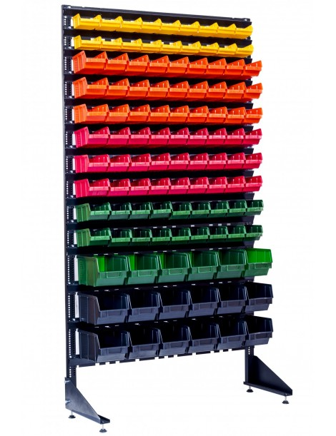 Стеллаж складской на 108 боксов для метизных мелочей