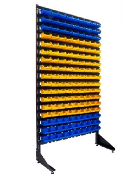 Односторонний стеллаж для метизов на 153 лотка