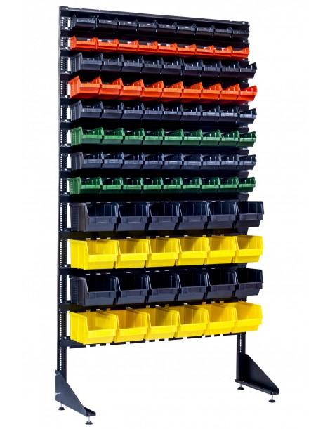 Стеллаж для метизов - 96 ящиков пластиковых - Для магазина и склада