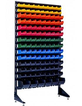 Стенд на 123 пластиковых ящиков для болтов
