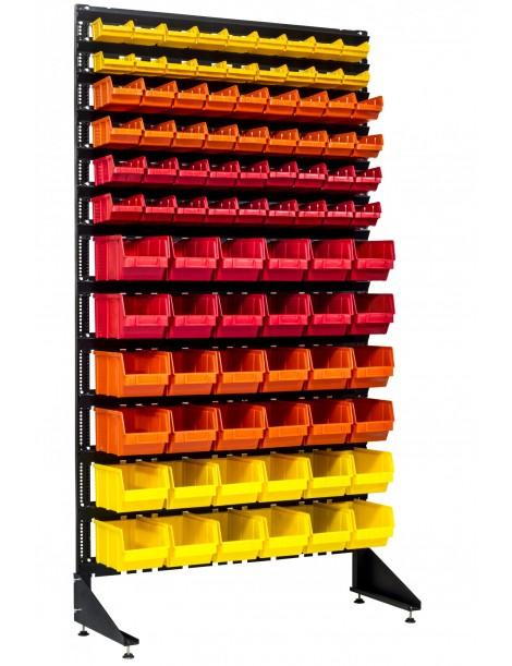 Стеллаж пристенный на 90 ящиков для шиномонтажа или магазина