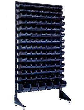 Напольный стеллаж для метизов  на 123 контейнера для строительного рынка