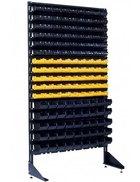 Торговый стенд с ящиками - 144 ячейки под зацепы и зажимы