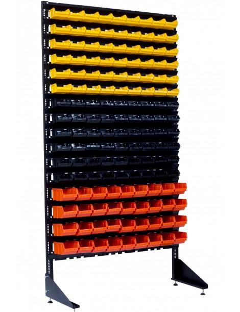 Односторонние стеллажи для метизов для сверл на 144 ячейки