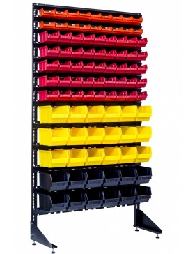 Метизный стенд для магазина с кюветами - 93 ящика