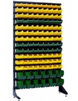Стеллажи для фитингов - 120 пластиковых ячеек - на СТО