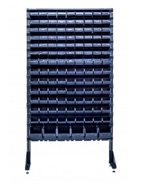 Складское оборудование для метизов для магазина или производства - 123 ящика пластиковых