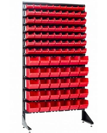 Стеллаж с пластиковыми ящиками - 93 шт - для гаража или магазина