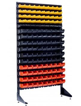 Комплект стойки на 135 лотков с пластиковыми ящиками под метизы
