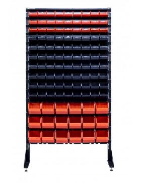 Стеллаж на 108 лотков для строительного магазина крепежей