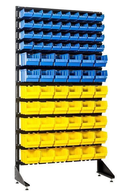 Купить стеллаж с пластиковыми лотками под метизы Кривой Рог