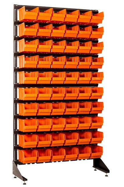 стеллаж для метизов с пластиковыми ящиками кривой рог
